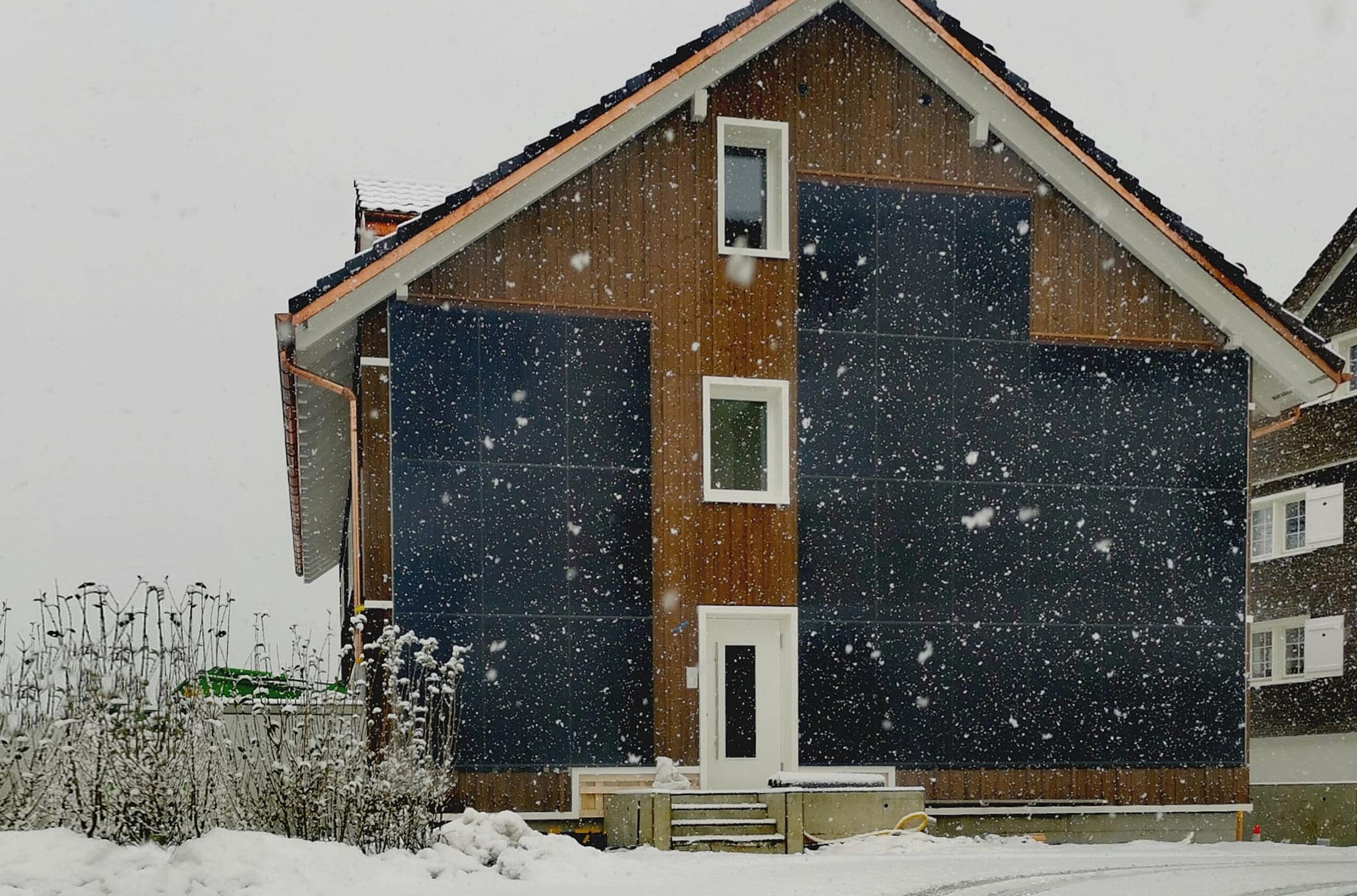 Fassade mit PV
